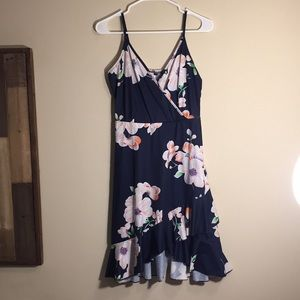 Women's Floral Dark Blue Dress
